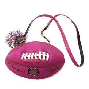 Betsey Johnson What A Score Metallic Football Bag